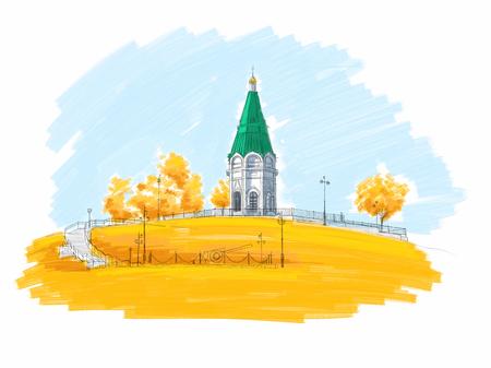 Paraskeva Pyatnitsa Church in Krasnoyarsk