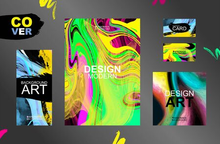 The perfect color combination of backgrounds for graphic design. A wide variety of templates. Unique design of packaging, booklets, banners, brochures, flyers, business cards, souvenirs, notebooks. Stock Illustratie