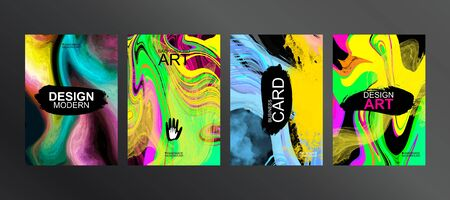 Unique design of packaging, booklets, banners, brochures, flyers, business cards, souvenirs, notebooks. Bright cover. Elements for print design. Canvas brush strokes. The perfect color combination
