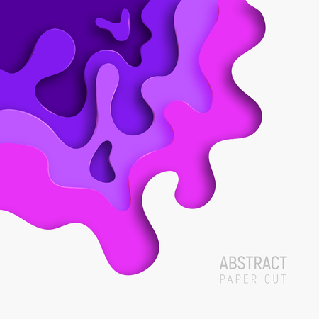 Paper cut background. Banners set with 3D abstract background and paper cut shapes. Vector design layout for business presentations, flyers, posters and invitations.