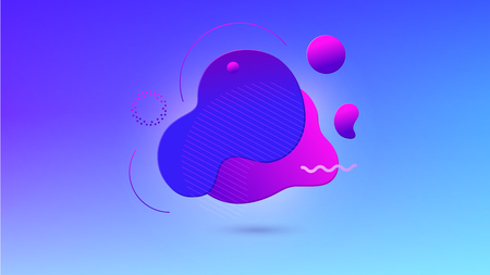 Trendy abstract background. Gradient shapes with geometric lines, dots. Fluid gradient shapes composition. Futuristic design posters. Ilustracja