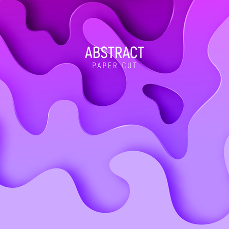 Banner with the most popular color proton purple. Vector design layout for business presentations, flyers, posters and invitations. Colorful carving art.