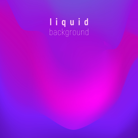 Vector trendy liquid colors background with the most popular color proton purple. Trendy modern design. Colored fluid graphic composition illustration.
