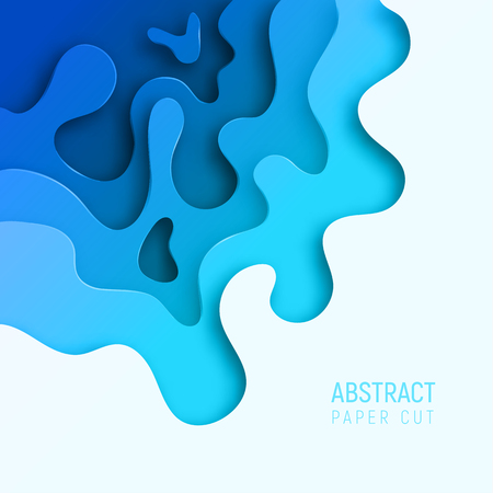 Banner with 3D abstract paper cut waves and background. Vector design layout for business presentations, flyers, posters and invitations. Colorful carving art.