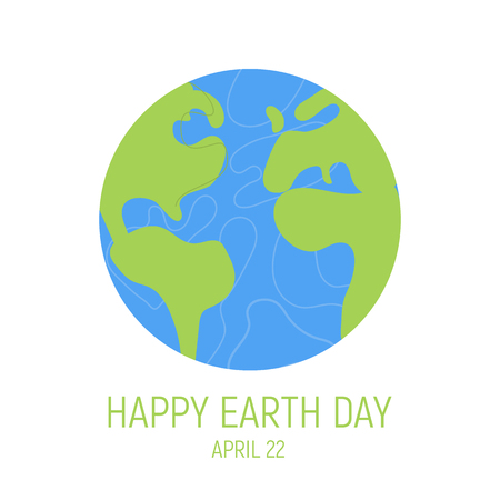 Happy Earth Day Banner. World environment day background. Save the earth. Green day. Vector illustration.