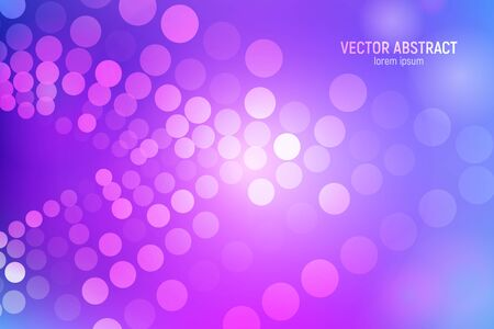 Circles abstract background. 3D abstract purple and blue background with circles, lens flares and glowing reflections. Bokeh effect. Vector illustration. 일러스트