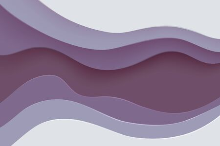 Paper cut banner with 3D slime abstract background and grapeade waves layers. Abstract layout design for brochure and flyer. Paper art vector illustration. Ilustração