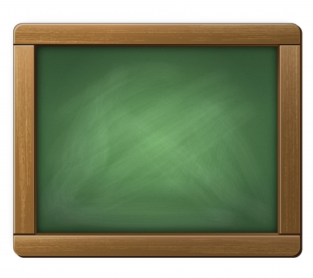 Illustration of a Chalkboard Tablet Stock Photo
