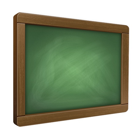 Illustration of a Chalkboard Tablet from a Dynamic Perspective