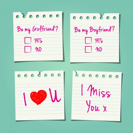 miss you: Love Notes A Teenager May Pass In School