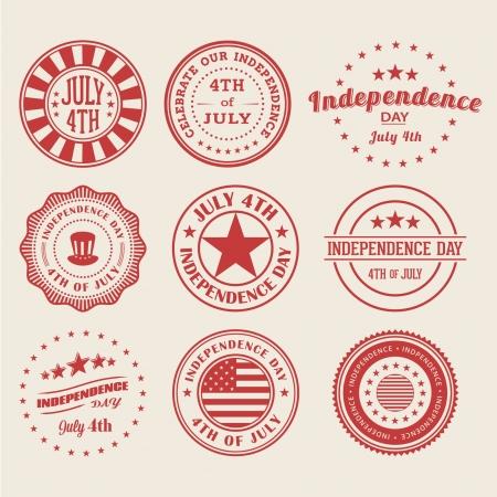 Día de la Independencia Sellos / Placas