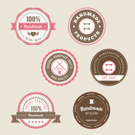 sew label: Badges for Handmade Products