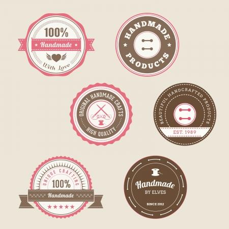 feitas à mão: Emblemas para produtos artesanais