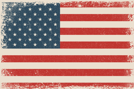 Grunge Vector USA Flag