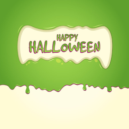 Happy Halloween Slime With Text Inside Slime