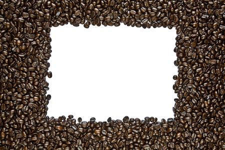 De café tostado oscuro marco de frijol Foto de archivo - 5450870