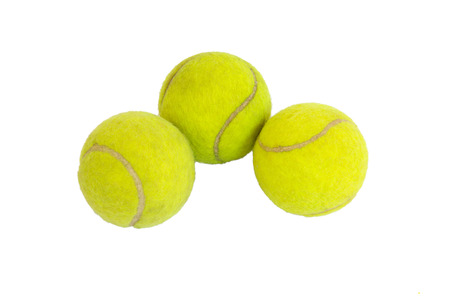 new ball: three tennis balls