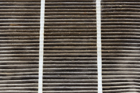 dirty car: dirty air condition filter of car