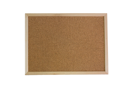notice: Brown notice cork board with white background
