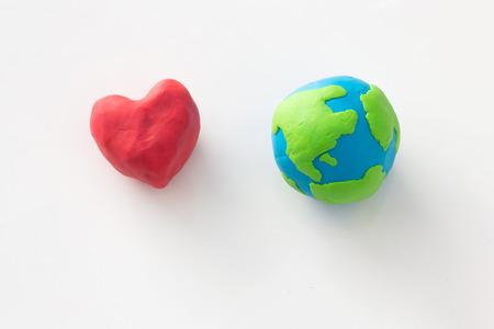 Plasticine Love the Earth Concept