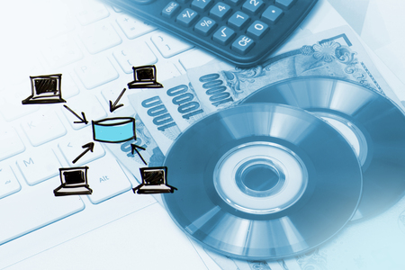 middleware: Computer in business process concept, client and server , business data center