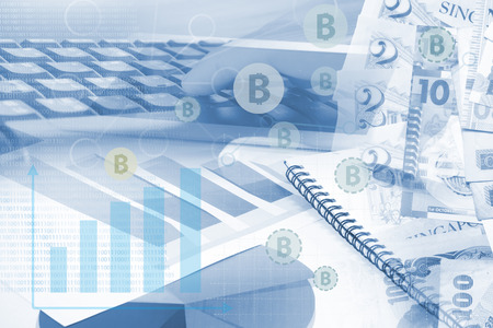 security technology: Bitcoin is a digital currency payment system ,FINTECH Concept