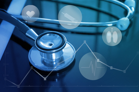 online medical service and healthcare technology Stock Photo