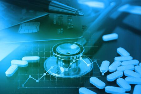 Healthcare analytics and medical examination concept