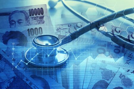 Medical Debt and Healthcare Medical Cost billings concept Stock Photo