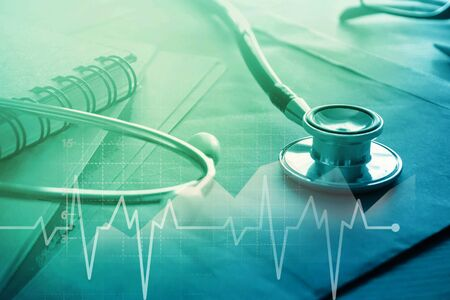 Medical examination and healthcare business graph 免版税图像 - 150294519