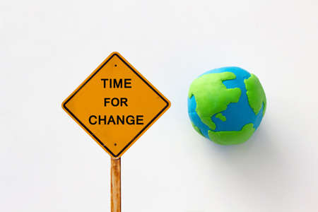 time for change the world concept 写真素材