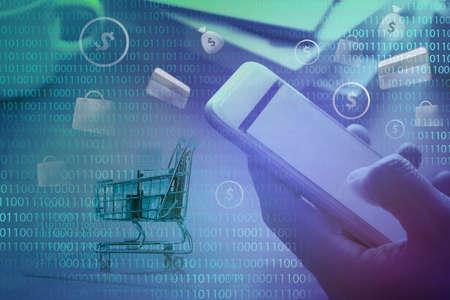 Online Business Activities on Mobile phone 写真素材