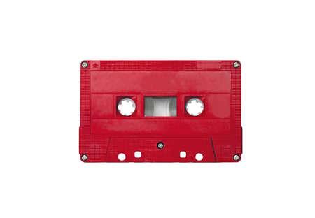 red cassette tape, minimal style 写真素材
