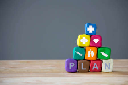 health planning and health insurance concept