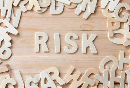 letters with word Risk , Risk Management Concept