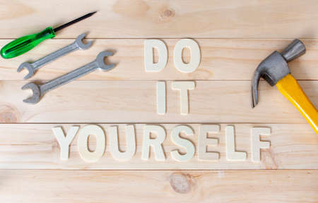 Tools with word Do It Yourself 写真素材