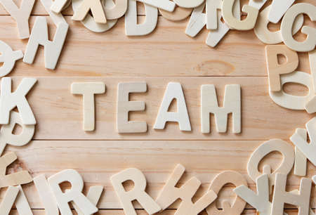 letters with word Team, Team Building Concept 写真素材