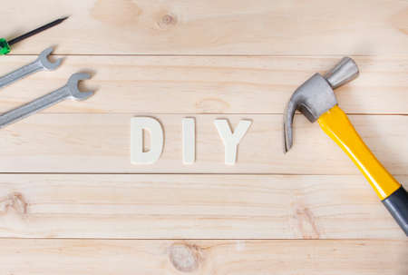 Tools with letters DIY , Do It Yourself