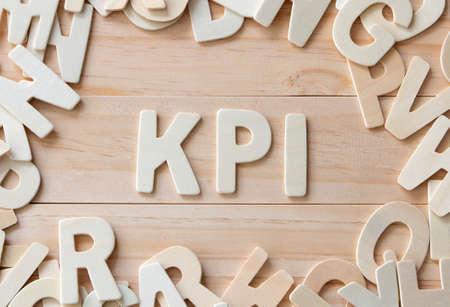 Key Performance Indicator , letters put in word KPI 写真素材