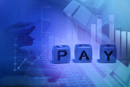 Online shopping and internet payment activity concept