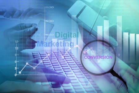 Digital Marketing , Conversion Rate Concept Standard-Bild