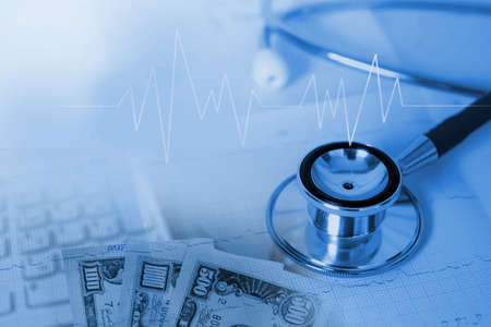 healthcare cost and medical debt concept