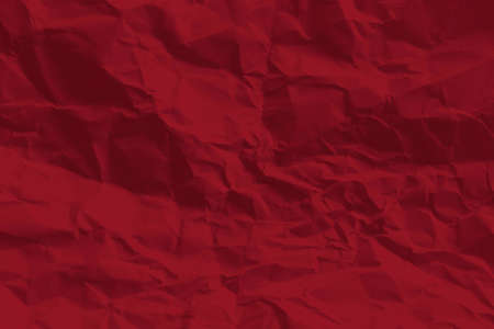 red crumpled paper texture and background