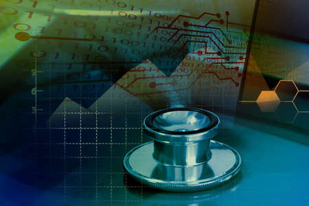 Medical and healthcare service concept with business graph, big data in healthcare service, medical data transformation for analytics