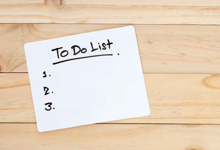 to do list written on paper
