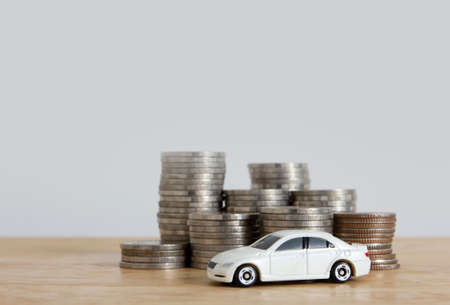 saving for car , car loan finacial concept