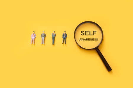self awareness , human resource management concept, find your passion, who are you Foto de archivo