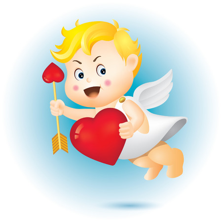 Valentine's Day and Cupid Foto de archivo - 117926880