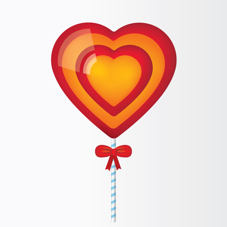 Lollipop made of hearts