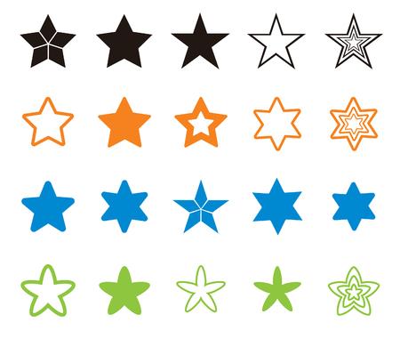 Various star shape illustrations 向量圖像